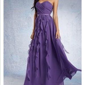 Alfred Angelo purple bridesmaid dress